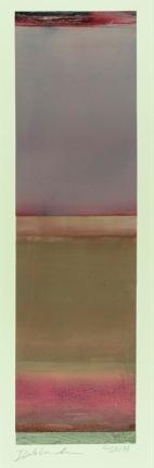"""Untitled (Purple Top)"", 2014, oil on Yupo paper, 15.5 x 4.5"""
