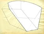 """#5 Arc (3 sections- 2 white) 5, 5A, 5B"", 1980, graphite & white pigment on vellum, 19 x 24"" im."