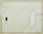 """Afternoon Phase / Pentagon Oval"", 1984, graphite & white pigment on vellum, 19 x 24"" im."