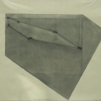 """Triple Pentagon, Six Locations"", 1979, graphite on vellum, 19 x 24"" im."