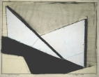 """White Timaeus"", 1984, graphite & white pigment on vellum, 19 x 24"" im."