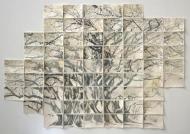 """Albert Park Auckland"", 2014, gouache & lithography on paper, 38 x 56"""