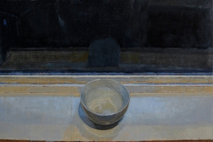 """Night Cup"", 2015, oil on linen, 14 x 20.5"""