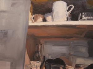 """Pantry"", 2015, oil on paper, 18.5 x 25"""