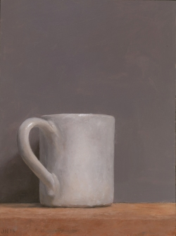 """Caffè"", 2015, oil on panel, 9 3/8 x 7"""