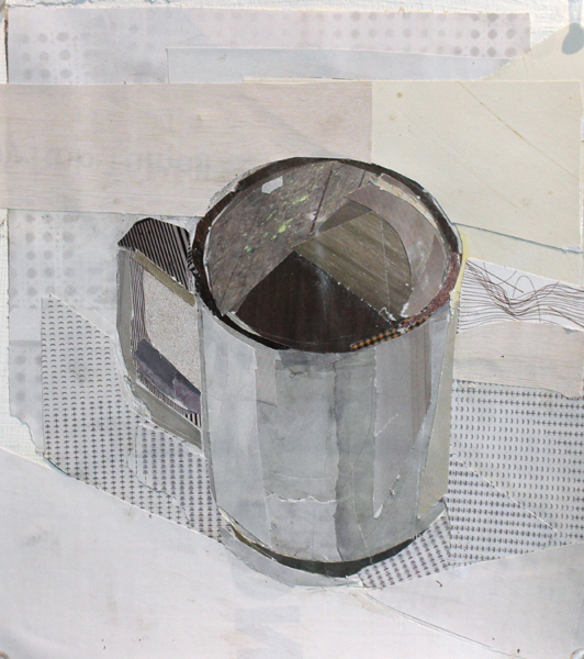 """""""Cup 1"""", 2015, collage on paper, 7 x 8"""""""