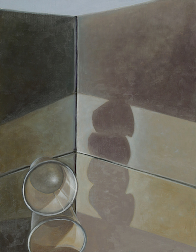 "Evelyn Woods, ""White Cup 2"", 2015, oil on board, 11 x 14"""