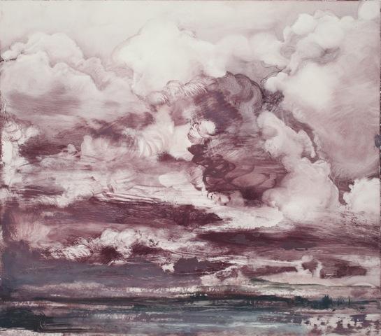 """Cloud Series #5"", 2015, oil on paper, 11 x 12.5"""