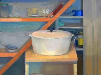"Matt Klos, ""Diagonal"", 2015, oil on panel, 16 x 12"""
