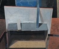 """Empty Box"", 2015, casein, 12 x 14"""
