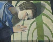 """""""The Listener"""", 2010, casein, 11 x 14"""""""