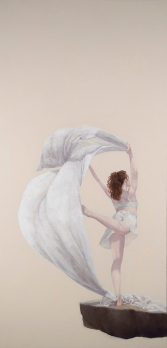 """Air (gilvus)"", 2015, oil on panel, 48"" x 24"""