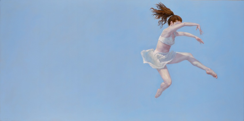 """""""Released"""", 2015, oil on panel, 24"""" x 48"""""""