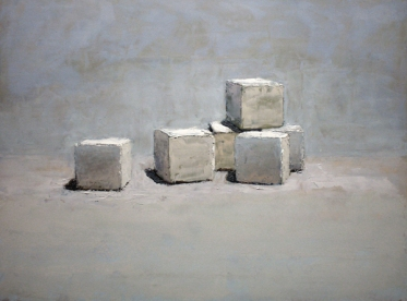 """Sugar Cubes"", 2016, oil on panel, 12 x 16"""