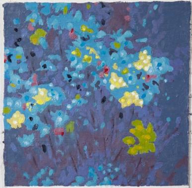"""All the Livings Things: Hemlock, 6.15.16"", 2016, oil on Shikishi Kochi handmade paper, 9.5"" x 9.5"""