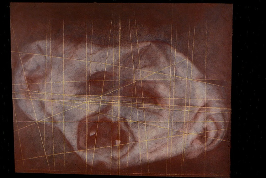 """Masks Children Wear, Vampire"", 2013, hand-colored gelatin silver print, 20 x 24"" paper size, 24 x 30"" framed"